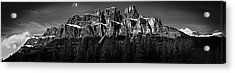 Castle Mountain Panoramic Acrylic Print by Brent Mooers