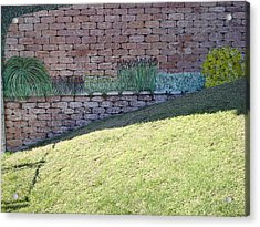 Cement Garden Wall Acrylic Print