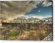 Central Park Springtime Acrylic Print by Ariane Moshayedi