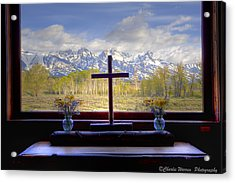 Chapel With A View Acrylic Print by Charles Warren