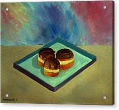 Chocolate Cakes Acrylic Print by Kostas Koutsoukanidis