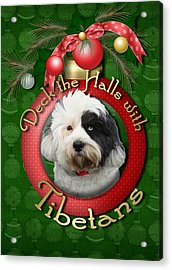 Christmas - Deck The Halls With Tibetans Acrylic Print by Renae Laughner