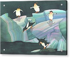 Christmas Penguins Acrylic Print