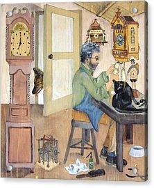 Clockmaker 1 Acrylic Print by Annemeet Hasidi- van der Leij