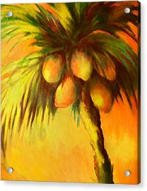 Coconuts At Sunrise Acrylic Print by Joann Shular