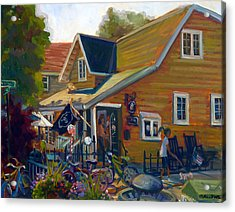 Coffee And Cream Cottage Acrylic Print by Nora Sallows