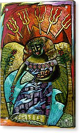 Coffee Goddess Acrylic Print by Angelina Marino