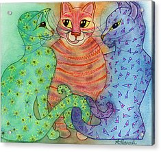 Colorful Cats Acrylic Print by Anne Havard