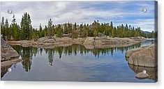 Coming Storm Lake Utica Sierra Nevada Landscape Panorama Larry Darnell Acrylic Print by Larry Darnell