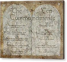 Commandments Acrylic Print