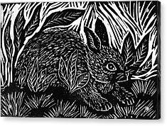 Cottontail Block Print Acrylic Print by Ellen Miffitt