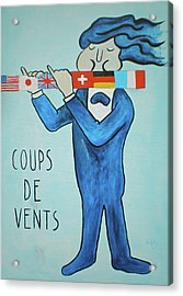 Coup De Vents Acrylic Print by Sheep McTavish