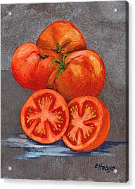 Creole Tomatoes Acrylic Print by Elaine Hodges
