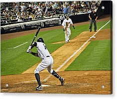 Curtis Granderson Acrylic Print by Andrew  Cragin