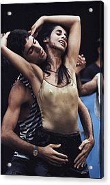 Dancers Of The Inbal Troupe Meld Yemeni Acrylic Print by James L. Stanfield