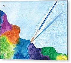 Dancing Paintbrush Acrylic Print by Debi Hammond