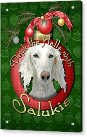 Deck The Halls With Salukis Acrylic Print by Renae Laughner