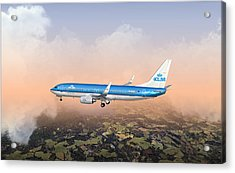 Acrylic Print featuring the digital art Dirty 737ng 28.8x18 by Mike Ray