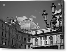Dome Of Galleria Umberto 1 Acrylic Print by Terence Davis