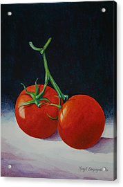 Acrylic Print featuring the painting Duet  by Margit Sampogna