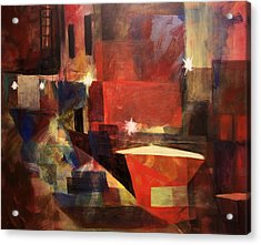 Dumpster - Sold Acrylic Print by Stephen Roberson