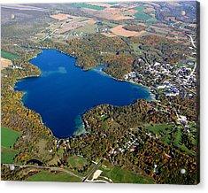 E-006 Elkhart Lake Wisconsin Fall Lake Acrylic Print by Bill Lang