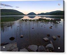 Eagle Lake Dusk Reflections Acrylic Print by Stephen  Vecchiotti