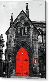 Edinburgh Door Acrylic Print