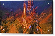 Eiffel On Bastille Day Abstract Acrylic Print