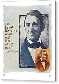 Emerson's Truths Acrylic Print