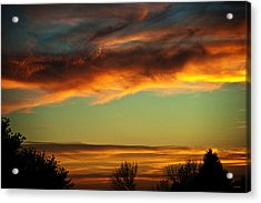 End Of Day Acrylic Print by Edward Peterson
