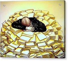 Exhaustive Bureaucracy Acrylic Print by Paulo Zerbato