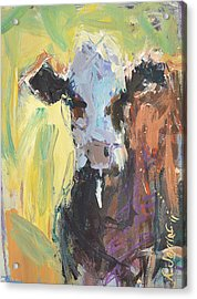 Expressive Cow Artwork Acrylic Print