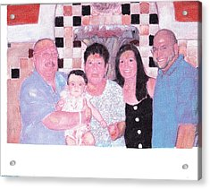 Family Acrylic Print by David Poyant