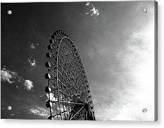 Ferris Wheel Against Sky Acrylic Print by Kiyoshi Noguchi