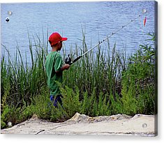 Fishing At Hickory Mound Acrylic Print