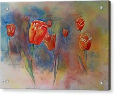 Floating Tulips Acrylic Print by Becky Chappell