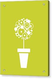 Flower Vase On Kiwi Acrylic Print by Flavio Coelho