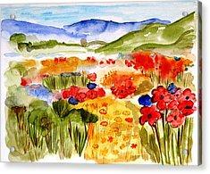 Flowery Meadow Acrylic Print