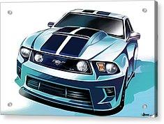 Ford Mustang 5.0 Acrylic Print by Uli Gonzalez