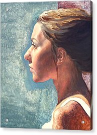 Fresh Pose Acrylic Print by Deborah Allison