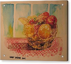 Fruitbasket Acrylic Print by Larry Whitler