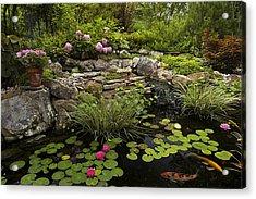 Garden Pond - D001133 Acrylic Print by Daniel Dempster