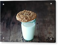 Glass Of Milk Acrylic Print by Shawna Lemay