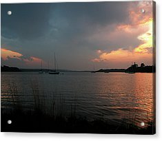 Glenmore Reservoir - Sunset 3 Acrylic Print by Stuart Turnbull