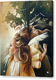 Gold Leaf Mysticism Acrylic Print