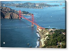 Golden Gate Bridge Acrylic Print by Stickney Design