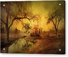 Golden Winter Days Acrylic Print
