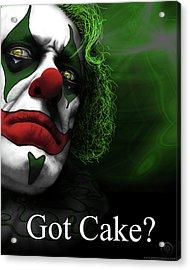 Acrylic Print featuring the digital art Got Cake by Jeremy Martinson