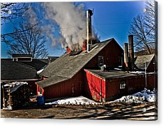 Goulds Sugarhouse Acrylic Print by Mike Martin